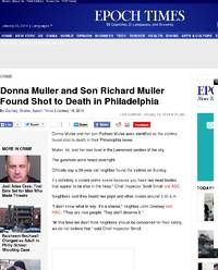 Donna Muller and Son Richard Muller Found Shot: Epoch Times